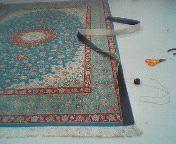 ペルシャ絨毯の裏ベルト